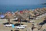 Морской пляж в поселке Лазаревское