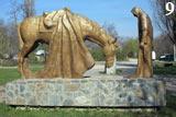 Родина-мать - памятник в селе Красный Курган, КЧР.