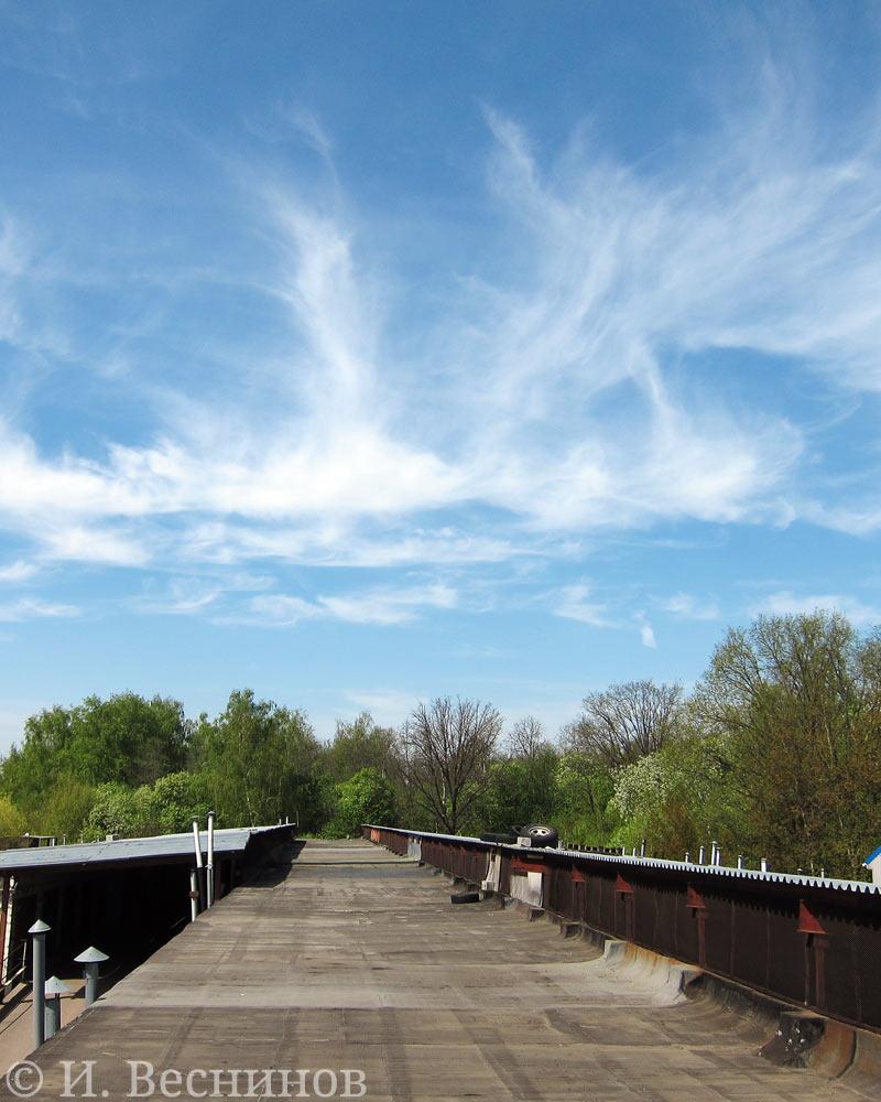 Небо над Митино 9 Мая - вид с крыши гаражей
