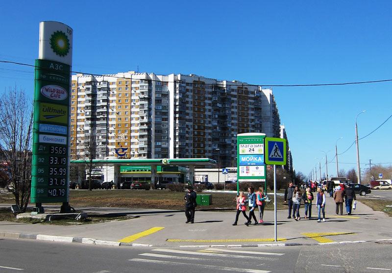 АЗС «BP» в Митино на Пятницком шоссе