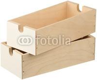 Два пустых фанерных ящика изолированы на белом фоне в Фотобанке «Fotolia»