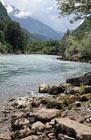 Моё путешествие в Абхазию, река Бзыбь