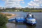 Моё второе велопутешествие, Речной трамвайчик, Москва-река, Павшино