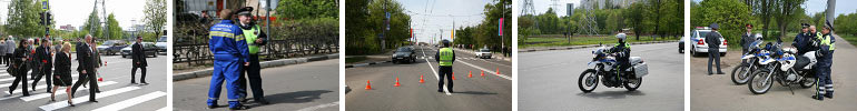 ДПС в городе Химки Московской области в День Победы 9 Мая 2008 года