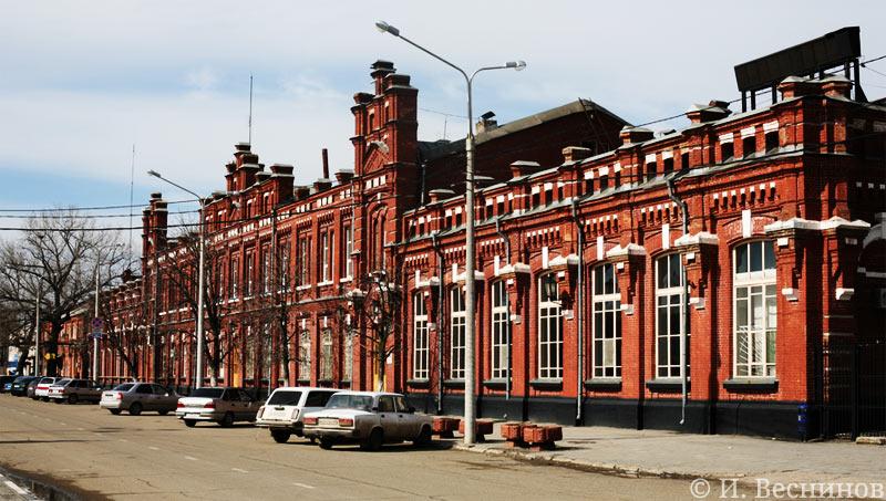 Железно-дорожный вокзал в Кропоткине Краснодарского края