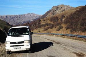 Мой микроавтобус VolksWagen в горах Карачаево-Черкесии