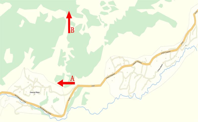 Карта того места, где паслись коровы в районе Нижней Мары
