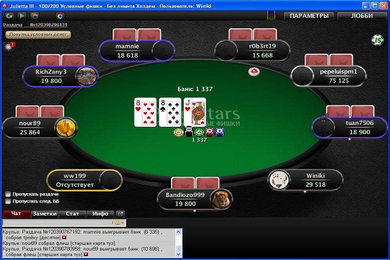 Игра в покер и фотографии игральных карт