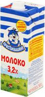 Фотография тетрапакета молока «Простоквашино»