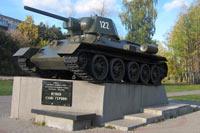 Моя фотография танка в городе Сходня, Московская область
