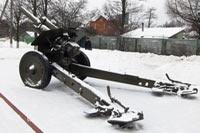 Город Сходня, пушка зимой