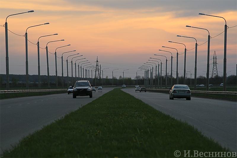 Фотография объездной дороги в городе Ставрополе