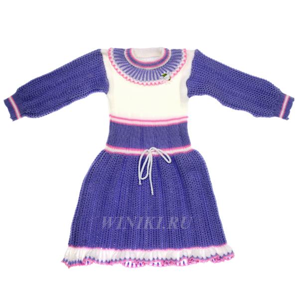 Детское платье для девочки 4-х лет - 0001. Изолировано на белом фоне